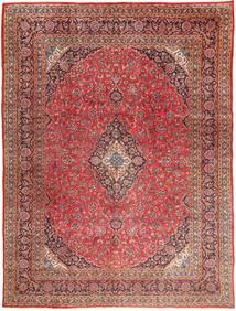 Mashad Vloerkleed 295X390 Echt Oosters Handgeknoopt Donkerrood/Lichtbruin Groot (Wol, Perzië/Iran)