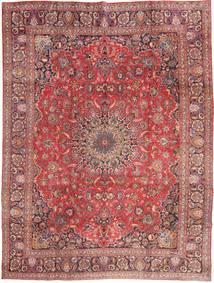 Mashad Vloerkleed 285X375 Echt Oosters Handgeknoopt Donkerrood/Lichtroze Groot (Wol, Perzië/Iran)