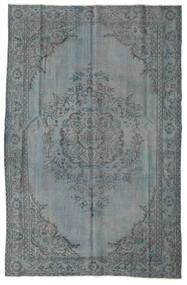 Colored Vintage Vloerkleed 164X252 Echt Modern Handgeknoopt Donkergrijs/Blauw (Wol, Turkije)
