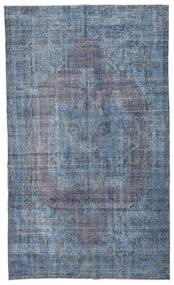 Colored Vintage Vloerkleed 185X308 Echt Modern Handgeknoopt Lichtblauw/Blauw/Donkergrijs (Wol, Turkije)