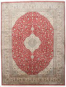 Kashmir Puur Zijde Vloerkleed 279X363 Echt Oosters Handgeknoopt Lichtgrijs Groot (Zijde, India)