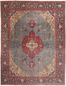 Tabriz Patina Vloerkleed 303X400 Echt Oosters Handgeknoopt Donkerrood/Bruin Groot (Wol, Perzië/Iran)