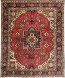 Tabriz Patina Vloerkleed 328X395 Echt Oosters Handgeknoopt Donkerbruin/Lichtbruin Groot (Wol, Perzië/Iran)