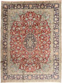 Kerman Vloerkleed 237X318 Echt Oosters Handgeknoopt Lichtgrijs/Donkerbruin (Wol, Perzië/Iran)