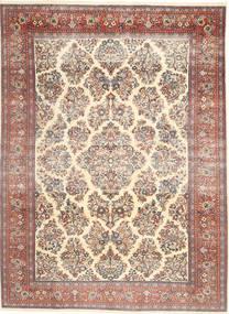 Sarough Patina Vloerkleed 200X280 Echt Oosters Handgeknoopt Beige/Donkerbruin (Wol, Perzië/Iran)