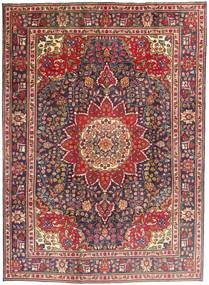 Tabriz Vloerkleed 212X292 Echt Oosters Handgeknoopt Donkerrood/Donkerbruin (Wol, Perzië/Iran)
