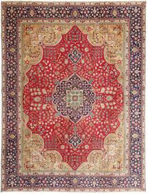 Tabriz Patina Vloerkleed 295X390 Echt Oosters Handgeknoopt Roestkleur/Donkerrood Groot (Wol, Perzië/Iran)
