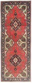 Tabriz Patina Vloerkleed 105X278 Echt Oosters Handgeknoopt Tapijtloper Donkerrood/Roestkleur (Wol, Perzië/Iran)