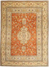 Tabriz Patina Vloerkleed 270X373 Echt Oosters Handgeknoopt Donkerbeige/Lichtbruin Groot (Wol, Perzië/Iran)
