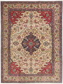 Tabriz Patina Vloerkleed 225X332 Echt Oosters Handgeknoopt Lichtbruin/Donkerbruin (Wol, Perzië/Iran)