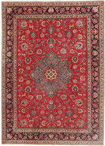 Tabriz Patina Vloerkleed 243X335 Echt Oosters Handgeknoopt Donkerrood/Rood (Wol, Perzië/Iran)