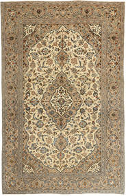 Keshan Patina Vloerkleed 195X303 Echt Oosters Handgeknoopt Lichtbruin/Donkerbeige (Wol, Perzië/Iran)
