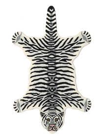 Tiger - Wit Vloerkleed 100X160 Modern Zwart/Beige (Wol, India)