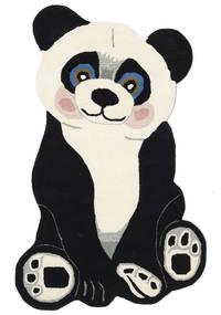 Panda Baby Vloerkleed 100X160 Modern Donkergrijs/Beige (Wol, India)