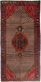 Koliai Vloerkleed 158X325 Echt Oosters Handgeknoopt Tapijtloper Donkerbruin/Donkerrood (Wol, Perzië/Iran)