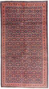 Sarough Vloerkleed 158X307 Echt Oosters Handgeknoopt Tapijtloper Donkerbruin/Donkerpaars (Wol, Perzië/Iran)