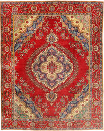 Tabriz Vloerkleed 300X378 Echt Oosters Handgeknoopt Roestkleur/Bruin Groot (Wol, Perzië/Iran)