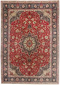 Tabriz Patina Vloerkleed 200X290 Echt Oosters Handgeknoopt Donkerrood/Donkerbruin (Wol, Perzië/Iran)