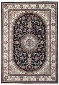 Nain Indiaas Vloerkleed 252X355 Echt Oosters Handgeknoopt Lichtgrijs/Donkerblauw Groot ( India)