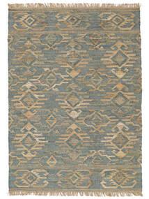 Buitenvloerkleed Kalahari Jute Vloerkleed 200X300 Echt Modern Handgeweven Lichtgrijs/Turquoise Blauw (Jute Vloerkleed India)