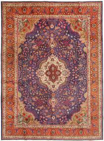 Tabriz Vloerkleed 305X410 Echt Oosters Handgeknoopt Donkerrood/Roestkleur Groot (Wol, Perzië/Iran)