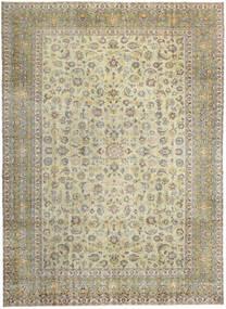 Keshan Patina Vloerkleed 293X405 Echt Oosters Handgeknoopt Lichtgrijs/Donkerbeige/Olijfgroen Groot (Wol, Perzië/Iran)