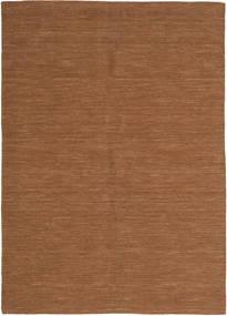 Kelim Loom - Bruin Vloerkleed 160X230 Echt Modern Handgeweven Bruin (Wol, India)