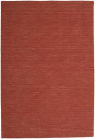 Kelim Loom - Roestkleur Vloerkleed 250X350 Echt Modern Handgeweven Donkerrood Groot (Wol, India)