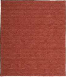 Kelim Loom - Roestkleur Vloerkleed 250X300 Echt Modern Handgeweven Donkerrood Groot (Wol, India)