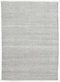 Alva - Wit/Zwart Vloerkleed 160X230 Echt Modern Handgeweven Lichtgrijs/Donkergrijs (Wol, India)