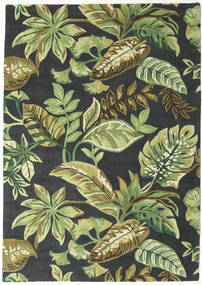 Jungel - Groen/Zwart Vloerkleed 160X230 Modern Donkergroen/Lichtgroen/Donkergrijs (Wol, India)