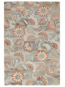 Rusty Flowers - Grijs/Roestkleur Vloerkleed 200X300 Modern Lichtgrijs/Donkerbeige (Wol, India)