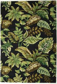 Jungel - Groen/Zwart Vloerkleed 200X300 Modern Donkergroen/Olijfgroen (Wol, India)