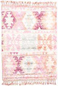 Märta - Roze Vloerkleed 120X180 Echt Modern Handgeknoopt Beige/Lichtroze (Wol, India)