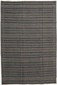 Kelim Perzisch Vloerkleed 200X300 Echt Oosters Handgeweven Donkergrijs/Zwart (Wol, Perzië/Iran)