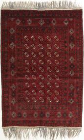Afghan Khal Mohammadi Vloerkleed 132X182 Echt Oosters Handgeknoopt Donkerrood/Lichtgrijs (Wol, Afghanistan)