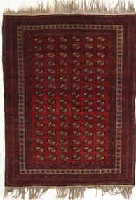 Afghan Khal Mohammadi Vloerkleed 134X180 Echt Oosters Handgeknoopt Donkerrood (Wol, Afghanistan)