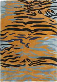 Love Tiger - Oranje/Grijs Vloerkleed 160X230 Modern Lichtbruin/Zwart ( India)