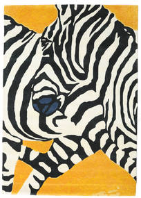 Zebra - 2018 Vloerkleed 160X230 Modern Beige/Zwart (Wol, India)