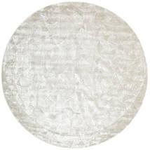 Crystal - Zilverwitje Vloerkleed Ø 250 Modern Rond Lichtgrijs/Donkerbeige/Beige Groot ( India)
