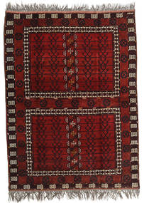 Afghan Khal Mohammadi Vloerkleed 167X221 Echt Oosters Handgeknoopt Donkerrood/Lichtgrijs (Wol, Afghanistan)