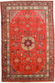 Samarkand Vintage Vloerkleed 161X250 Echt Oosters Handgeknoopt Roestkleur/Donkerrood (Wol, China)