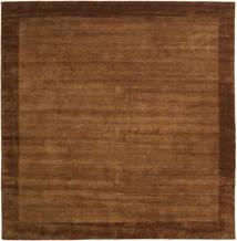 Handloom Frame - Bruin Vloerkleed 300X300 Modern Vierkant Bruin/Donkerbruin Groot (Wol, India)