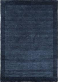 Handloom Frame - Donkerblauw Vloerkleed 160X230 Modern Donkerblauw (Wol, India)