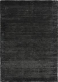 Handloom Frame - Zwart/Donkergrijs Vloerkleed 160X230 Modern Zwart/Donkergrijs (Wol, India)