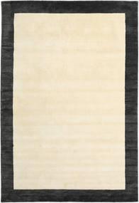 Handloom Frame - Zwart/Wit Vloerkleed 200X300 Modern Beige/Donkergrijs (Wol, India)