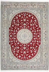 Nain 9La Vloerkleed 246X345 Echt Oosters Handgeknoopt Lichtgrijs/Beige (Wol/Zijde, Perzië/Iran)