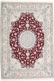Nain 9La Vloerkleed 247X368 Echt Oosters Handgeknoopt Lichtgrijs/Beige (Wol/Zijde, Perzië/Iran)