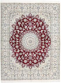 Nain 9La Vloerkleed 198X258 Echt Oosters Handgeknoopt Lichtgrijs/Beige (Wol/Zijde, Perzië/Iran)