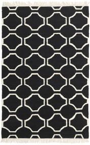 London - Zwart/Gebroken Wit Vloerkleed 160X230 Echt Modern Handgeweven Zwart/Beige (Wol, India)